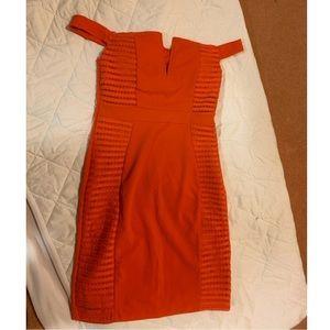 Orange Off-the-Shoulder Parisian Freakem Dress